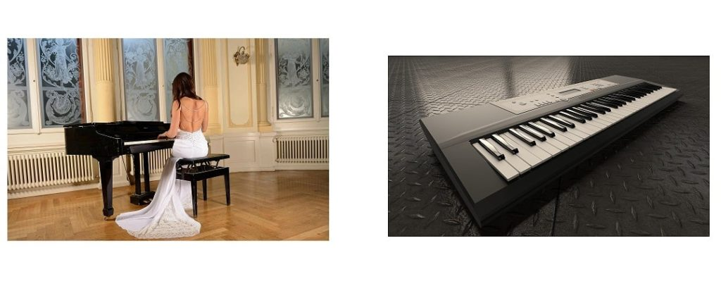 difference between a piano and a keyboard