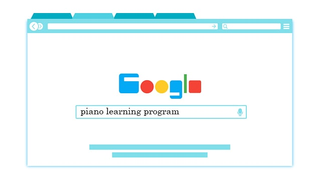 piano learning program google search